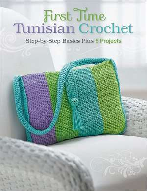 First Time Tunisian Crochet:  Step-By-Step Basics Plus 5 Projects de Margaret Hubert
