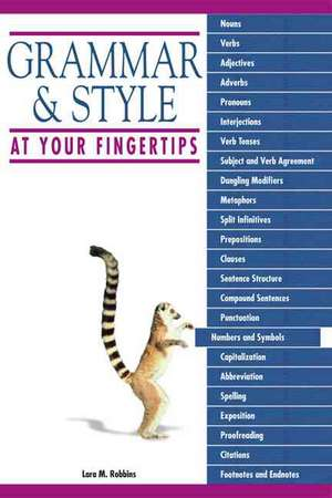 GRAMMAR & STYLE AT YOUR FINGER
