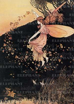 Fairy Scattering Leaves - Birthday Greeting Card de Ida Rentoul Outhwaite