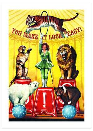 Circus Animal Trainer Congratulations Greeting Card de Laughing Elephant