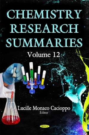 Chemistry Research Summaries