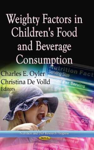 Weighty Factors in Children's Food and Beverage Consumption