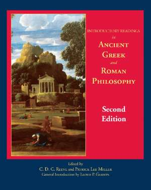 Introductory Readings in Ancient Greek and Roman Philosophy de Patrick Lee Miller