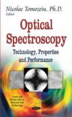 Optical Spectroscopy de Nicolae Tomozeiu