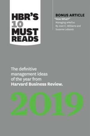 HBR's 10 Must Reads 2019 de Harvard Business Review