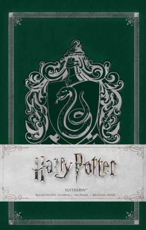 HARRY POTTER: SLYTHERIN HARDCOVER RULED NOTEBOOK de INSIGHT EDITIONS