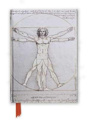 Da Vinci: Vitruvian Man (Foiled Journal) de Flame Tree Studio
