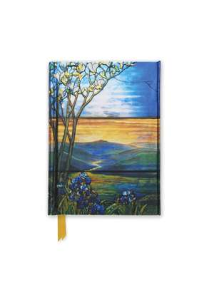 Tiffany Leaded Landscape with Magnolia Tree (Foiled Pocket Journal) de Flame Tree Studio