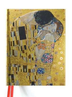 Gustav Klimt: The Kiss (Blank Sketch Book) de Flame Tree Studio