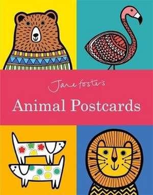 Jane Foster Animal Postcard Book