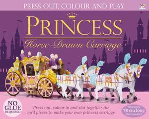 Press Out and Build Princess Horse-Drawn Carriage
