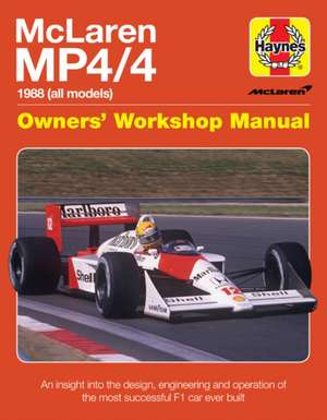 Mclaren Mp4/4 Owners' Workshop Manual de  Haynes Publishing