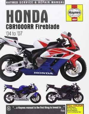 Honda CBR1000RR Fireblade (04 - 07) Haynes Repair Manual de  Haynes Publishing