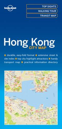 Lonely Planet Hong Kong City Map de Lonely Planet