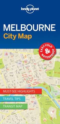 Lonely Planet Melbournecity Map de Lonely Planet