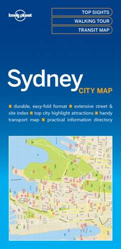 Lonely Planet Sydney City Map de Lonely Planet