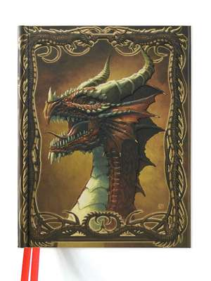 Beyit: Red Dragon (Blank Sketch Book) de Flame Tree Studio