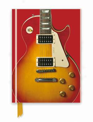 Gibson Les Paul Guitar, Sunburst Red (Foiled Journal) de Flame Tree Studio