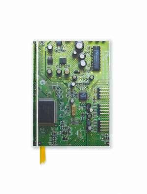Circuit Board Green (Foiled Pocket Journal) de Flame Tree Studio