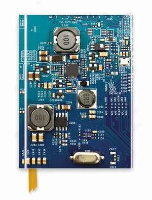 Circuit Board Blue (Foiled Journal) de Flame Tree Studio