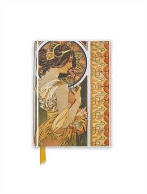 Mucha: Cowslip (Foiled Pocket Journal) de Flame Tree Studio