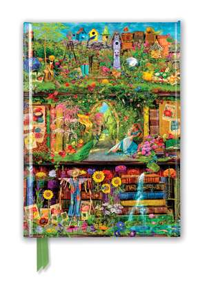 Aimee Stewart: Garden Bookshelves (Foiled Journal) de Flame Tree Studio