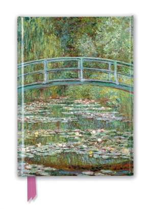 Claude Monet: Bridge over a Pond of Water Lilies (Foiled Journal) de Flame Tree Studio