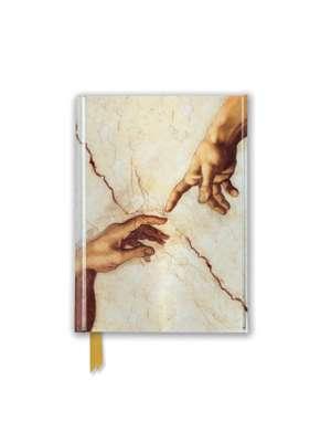 Michelangelo: Creation Hands (Foiled Pocket Journal) de Flame Tree Studio