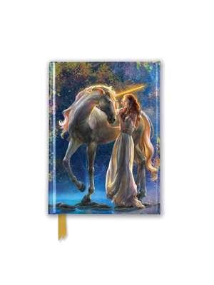 Elena Goryachkina: Sophia and the Unicorn (Foiled Pocket Journal) de Flame Tree Studio