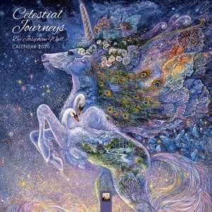 Celestial Journeys by Josephine Wall Wall Calendar 2020 (Art Calendar) de Flame Tree Studio