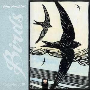 Chris Pendleton Birds Linocut Mini Wall Calendar 2020 (Art Calendar) de Flame Tree Studio