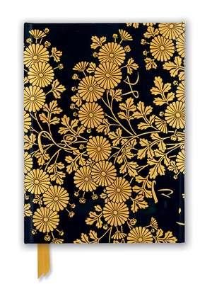 Uematsu Hobi: Box Decorated with Chrysanthemums (Foiled Journal) de Flame Tree Studio