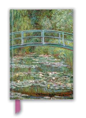 Claude Monet: Bridge over a Pond for Water Lilies (Foiled Blank Journal) de Flame Tree Studio