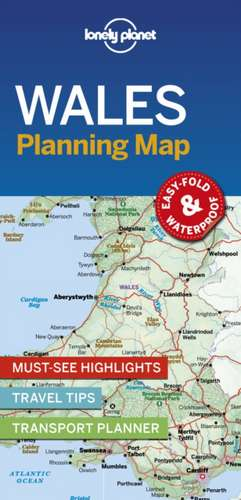 Lonely Planet Wales Planning Map imagine
