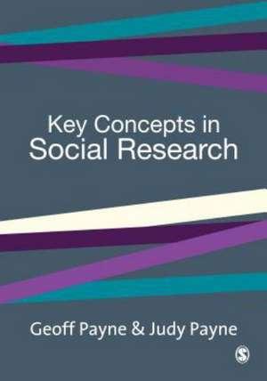 Key Concepts in Social Research de Geoff Payne