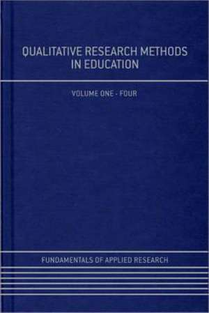 Qualitative Research Methods in Education de Harry Torrance