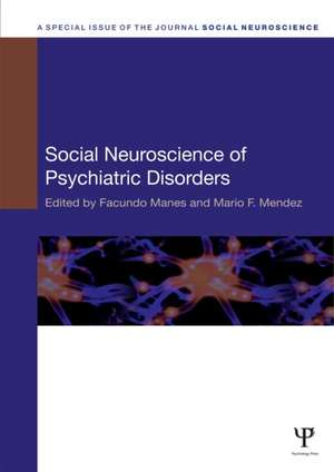Social Neuroscience of Psychiatric Disorders