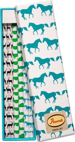 Set creioane Anorak Kissing Horses
