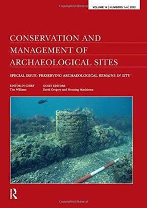 Conservation and Management of Archaeological Sites