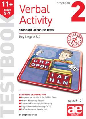 11+ Verbal Activity Year 5-7 Testbook 2