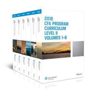 CFA Program Curriculum 2018 Level II