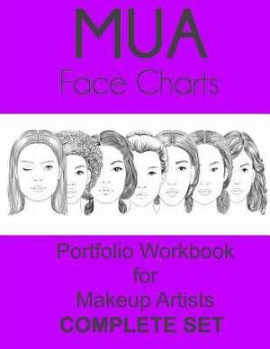 Mua Face Charts Portfolio Workbook for Makeup Artists Complete Set de Sarie Smith