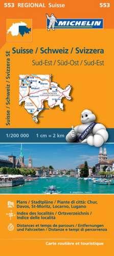 Michelin Regionalkarte Schweiz Süd-Ost 1 : 200 000
