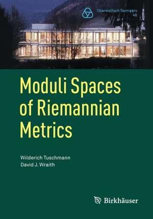 Moduli Spaces of Riemannian Metrics de Wilderich Tuschmann