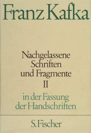 Nachgelassene Schriften und Fragmente II