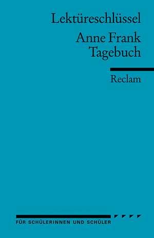 Tagebuch, Lektuereschluessel fuer Schueler