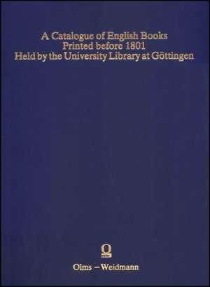 CATALOGUE OF ENGLISH BOOKS PRINTED BEFOR de GRAHAM P. JEFCOATE