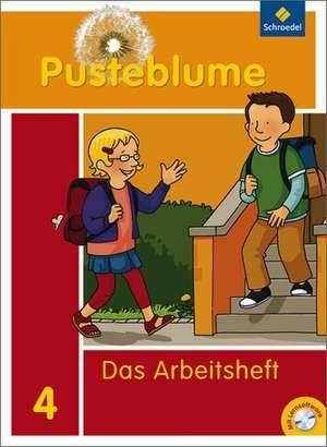 Pusteblume 4. Das Sprachbuch. Arbeitsheft mit CD-ROM. Bremen, Hamburg, Niedersachsen, Nordrhein-Westfalen, Schleswig-Holstein