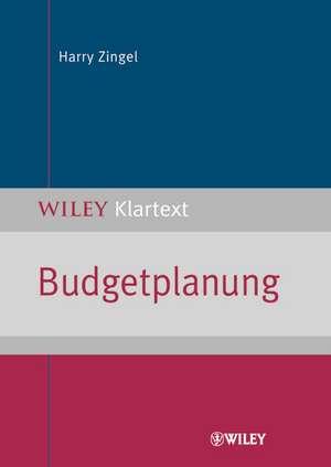 Budgetplanung de Harry Zingel