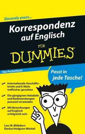 Korrespondenz auf Englisch fuer Dummies Das Pocketbuch